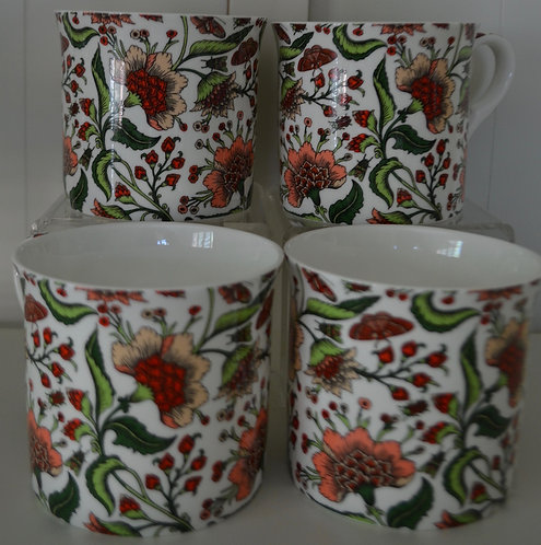 Heritage Fine Bone China Mug Set 4 - Oriental Peony