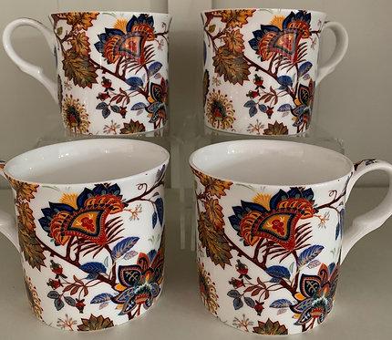 Heritage Fine Bone China Princess Mug Set 4 - Bimini
