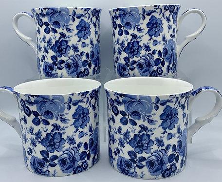 Heritage Fine Bone China Mug Set 4 - Chatsworth
