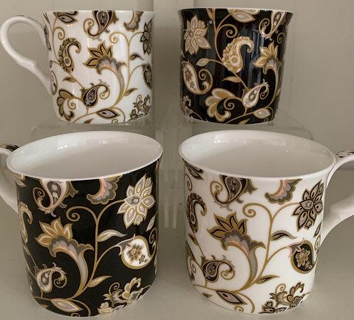 Heritage Fine Bone China Princess Mug Set 4 - Jacobean