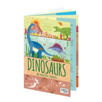 Sassi Junior Pop Up Book - Above & Below Dinosaurs & Prehistoric Creatures