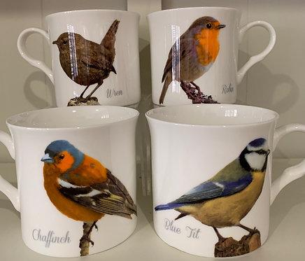 Heritage Fine Bone China Princess Mug Set 4 - Birds