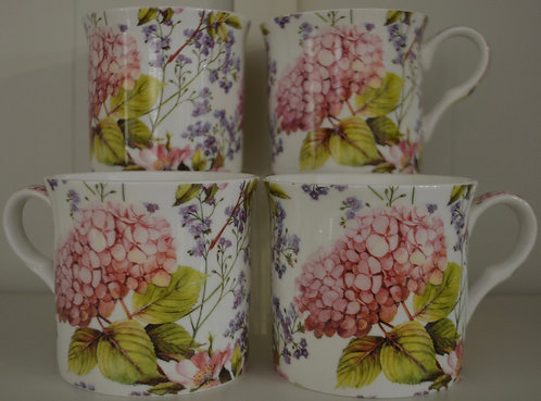 Heritage Fine Bone China Mug Set 4 - Midsummer