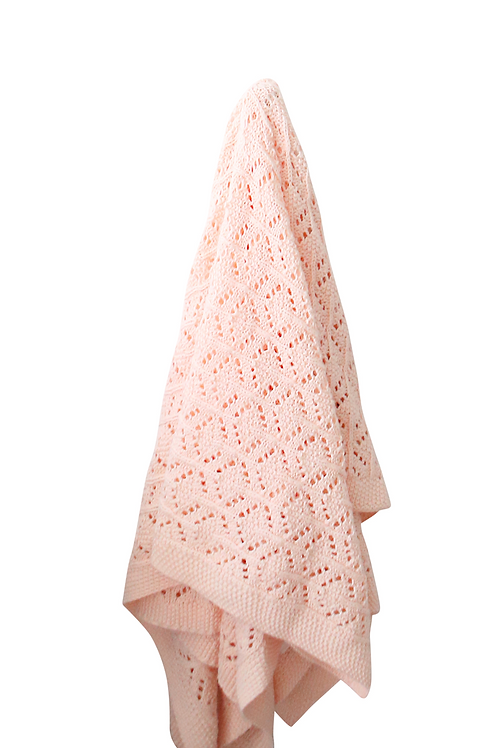 Tilly & Otto Heirloom Baby Blanket - Peonie