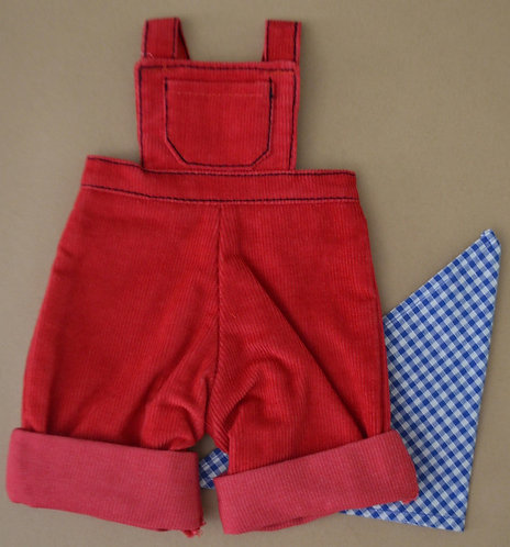 copy of Alice's Bear Shop by Charlie Bears - Clothing -Cobby's Dungarees Set Red