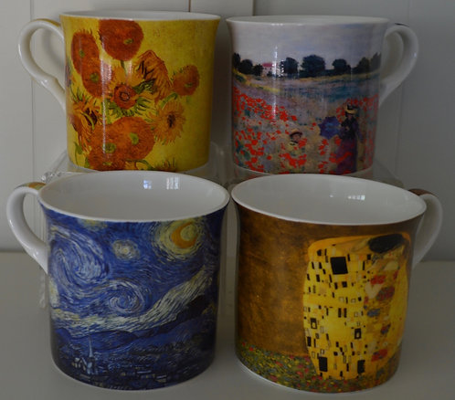Heritage Fine Bone China Mug Set 4 - Artist