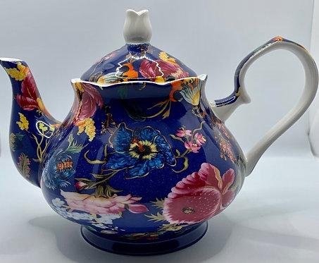 Heritage Stoke on Trent Fine Bone Teapot - Anthina Blue