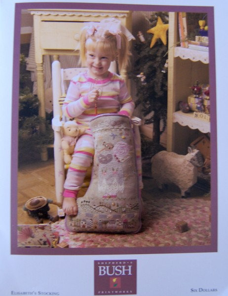 Shepherds Bush X/Stitch Stocking Kit - Elizabeth