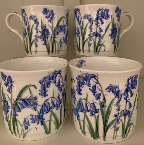 Heritage Fine Bone China Princess Mug Set 4 - Bluebell