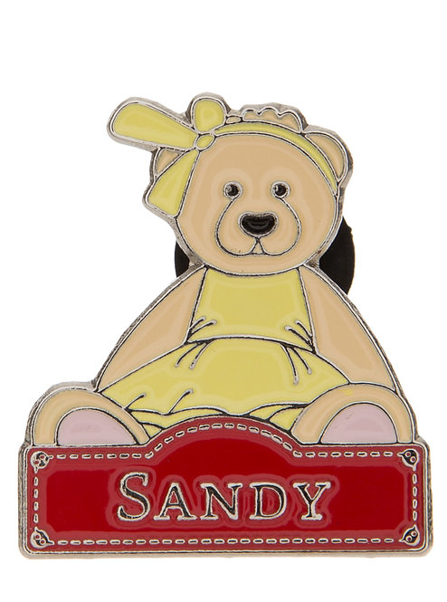 Alice's Bear Shop by Charlie Bears - Pin Badges - Sandy