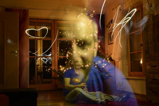 Lichtmalerei zu Weihnachten