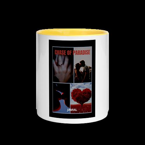 Jamal Byes: White Ceramic Mug w/ Color Inside: YELLOW