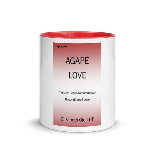 Elizabeth Ojeh: White Ceramic Mug w/ Color Inside