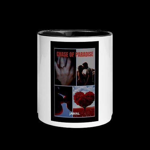 Jamal Byes: White Ceramic Mug w/ Color Inside: BLACK