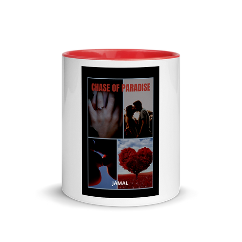 Jamal Byes: White Ceramic Mug w/ Color Inside: RED