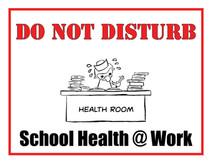 School Health Care Provider Sign
