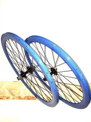 Wheelset Single Speed w/ deep alloy rim w/ flip-flop hub (dark blue)