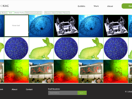 Eduardo Kac's Content Page Prototype