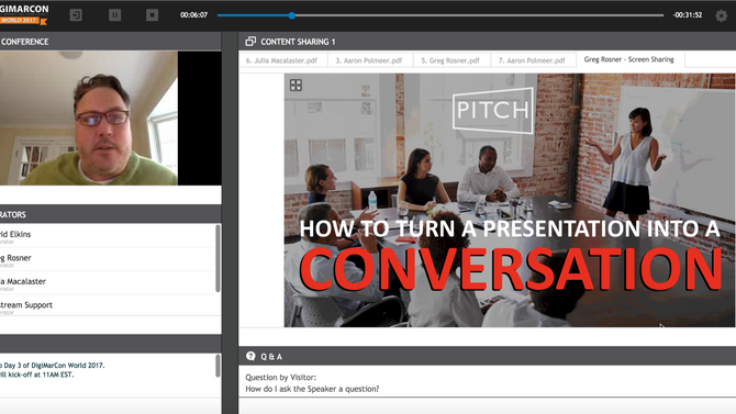 How to Turn a Presentation into a Conversation @DigiMarcom - Webinar Recording