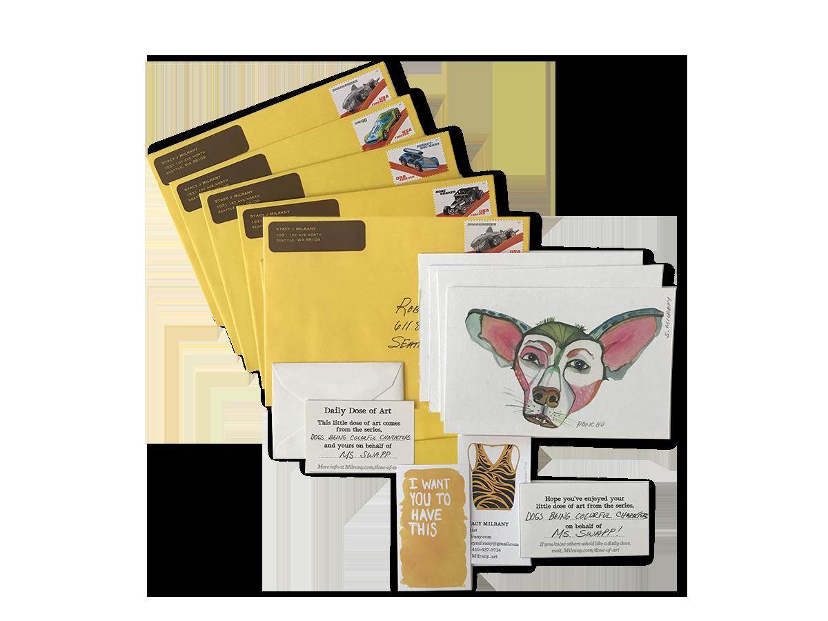 Shipped via USPS in a standard envelope