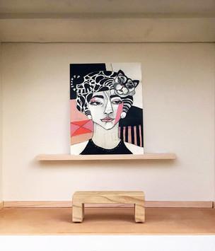 Cathair inside Little Free Art Gallery