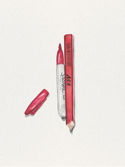 The Sharpie & the Carpenter Pencil