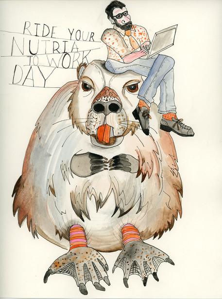 RYNTWD (Ride Your Nutria To Work Day)