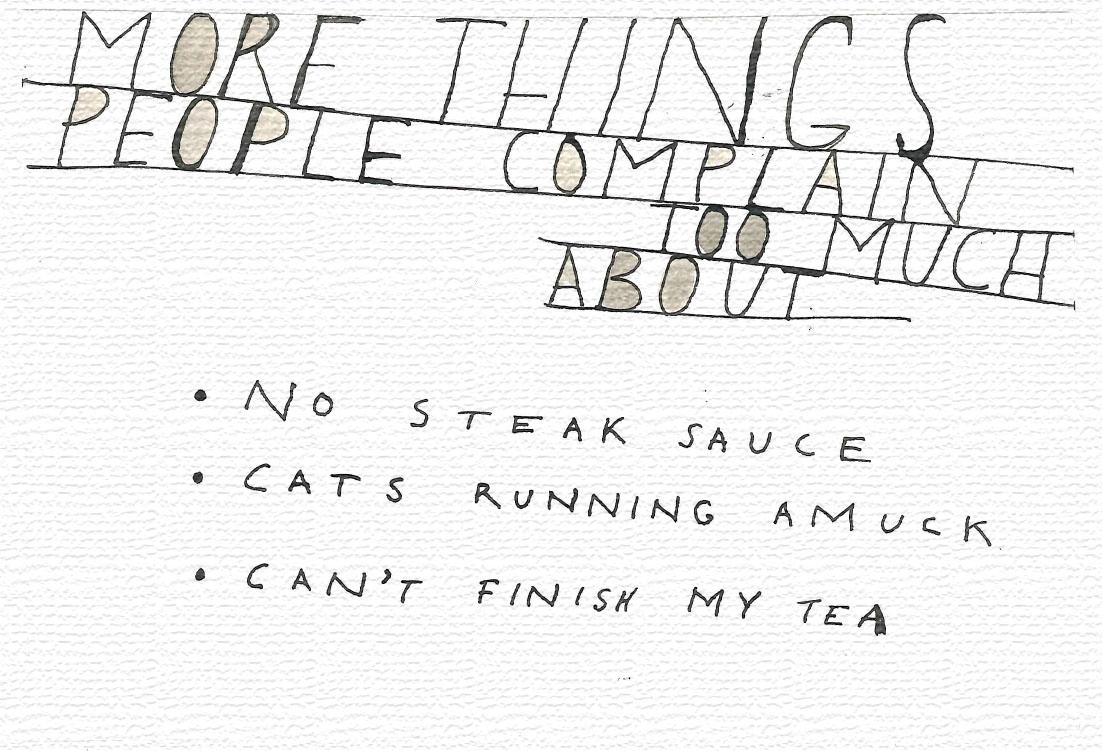"""Can't finish my tea!"""
