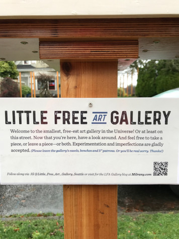 Little Free Art Gallery Signage
