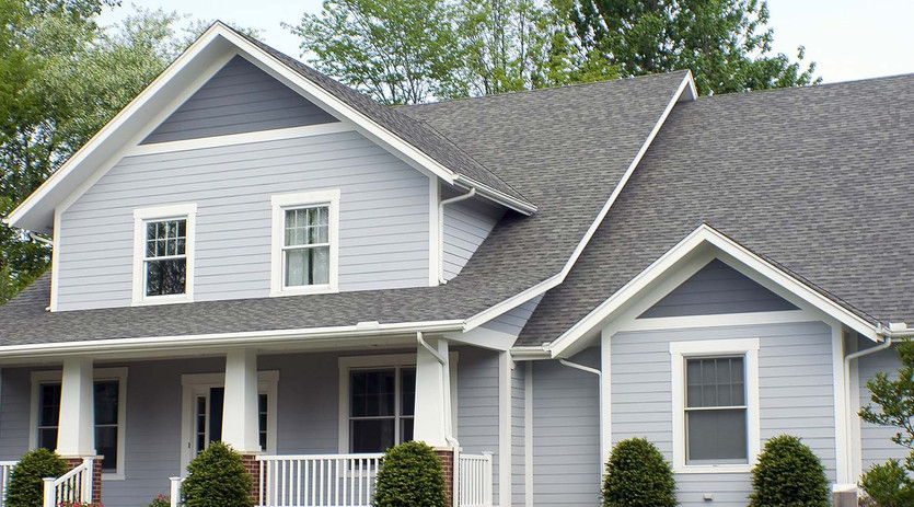 Painted House Siding