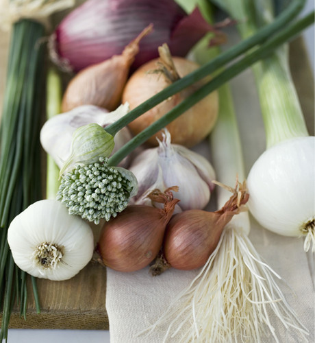 We love onions and garlic!