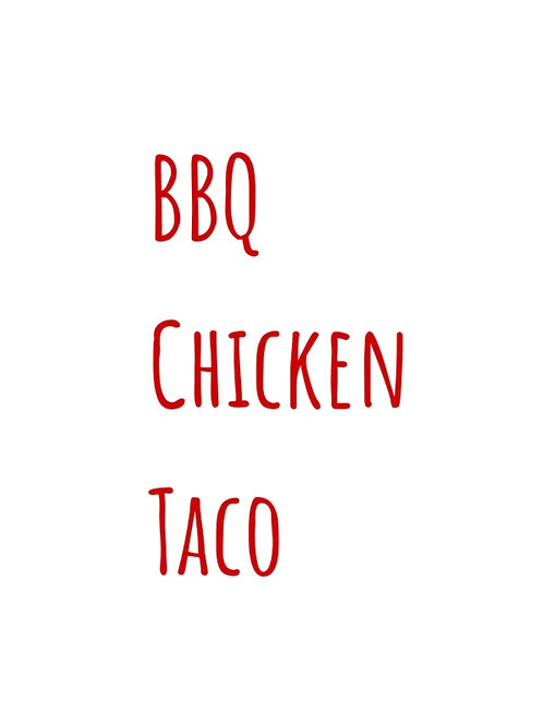 Barbeque Chicken Taco