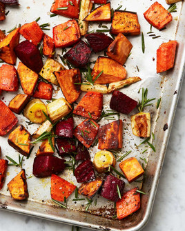 Delicious roasted root veggies