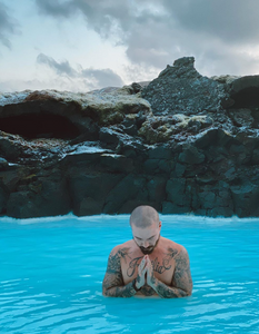 J Balvin in the Blue Lagoon
