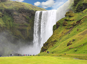 Skogafoss waterfall is one of th many sighs on our Iceland South Coast tour