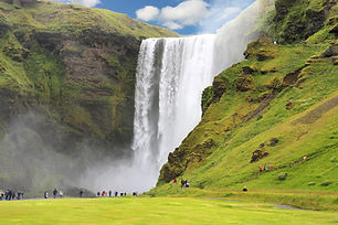 Skogafoss waterfall is one of the many sights on our South Coast day tour