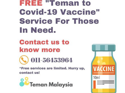 Teman to Covid-19 Vaccine Service for Those in Need