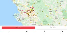Citizens map for #Bendera Putih