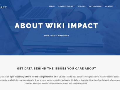 WikiImpact - An open search platform for change makers