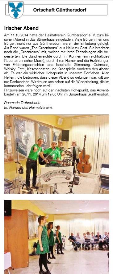 Günthersdorf mit den Green Roses