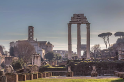 The temple of Castor and Pollux