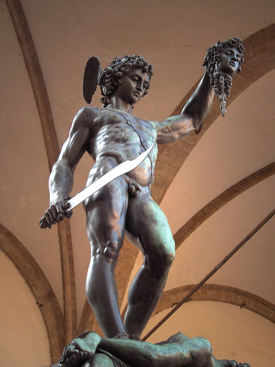 Perseus with Medusa's head