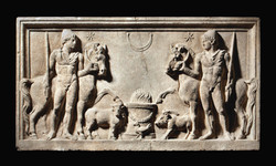 MARBLE RELIEF OF THE DIOSCURI