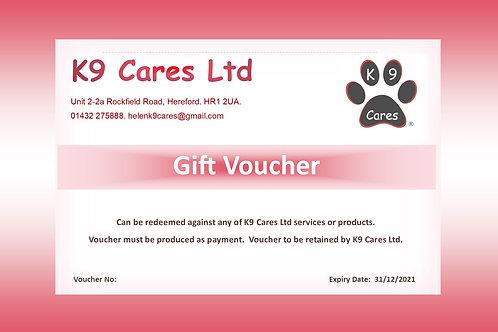 K9 Cares £500 Gift Voucher