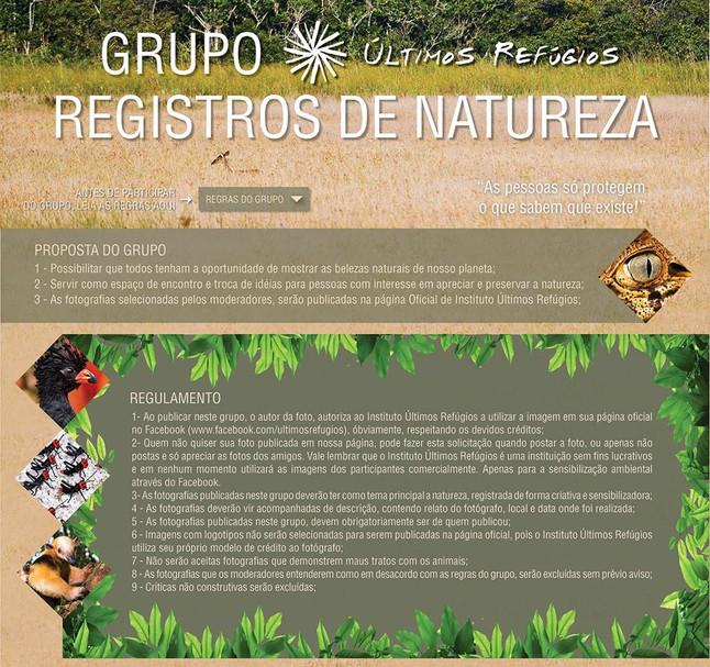 Facebook - Registros de Natureza