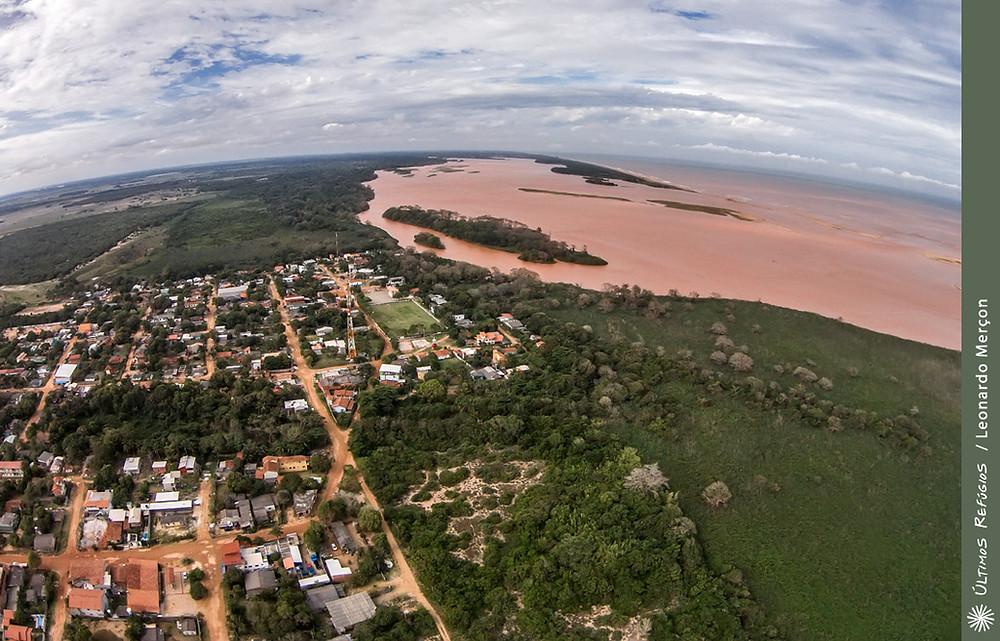 Vila de Regência, onde encontra-se a foz do Rio Doce
