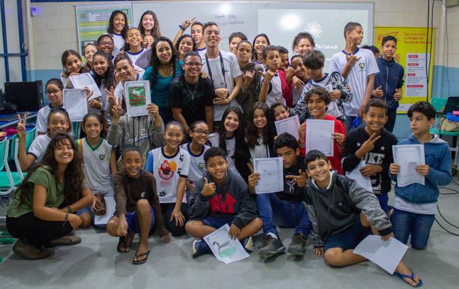 Visita do Últimos Refúgios a escola municipal da Serra