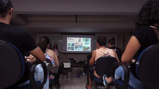 Projeto Marsupiais no encontro do GEAS-UENF, Campos dos Goytacazes, RJ.