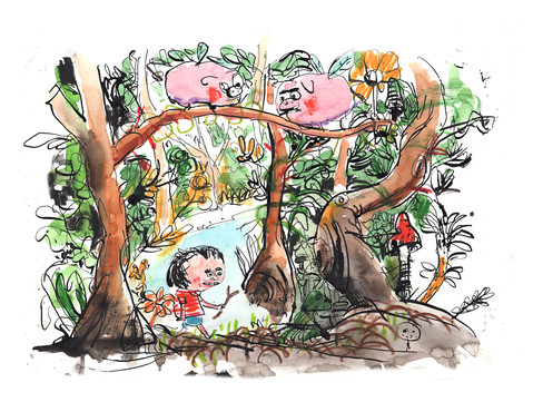 Günther verläuft sich absichtlich im Wald.