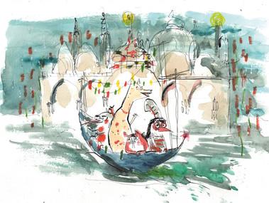 Freunde in Venedig